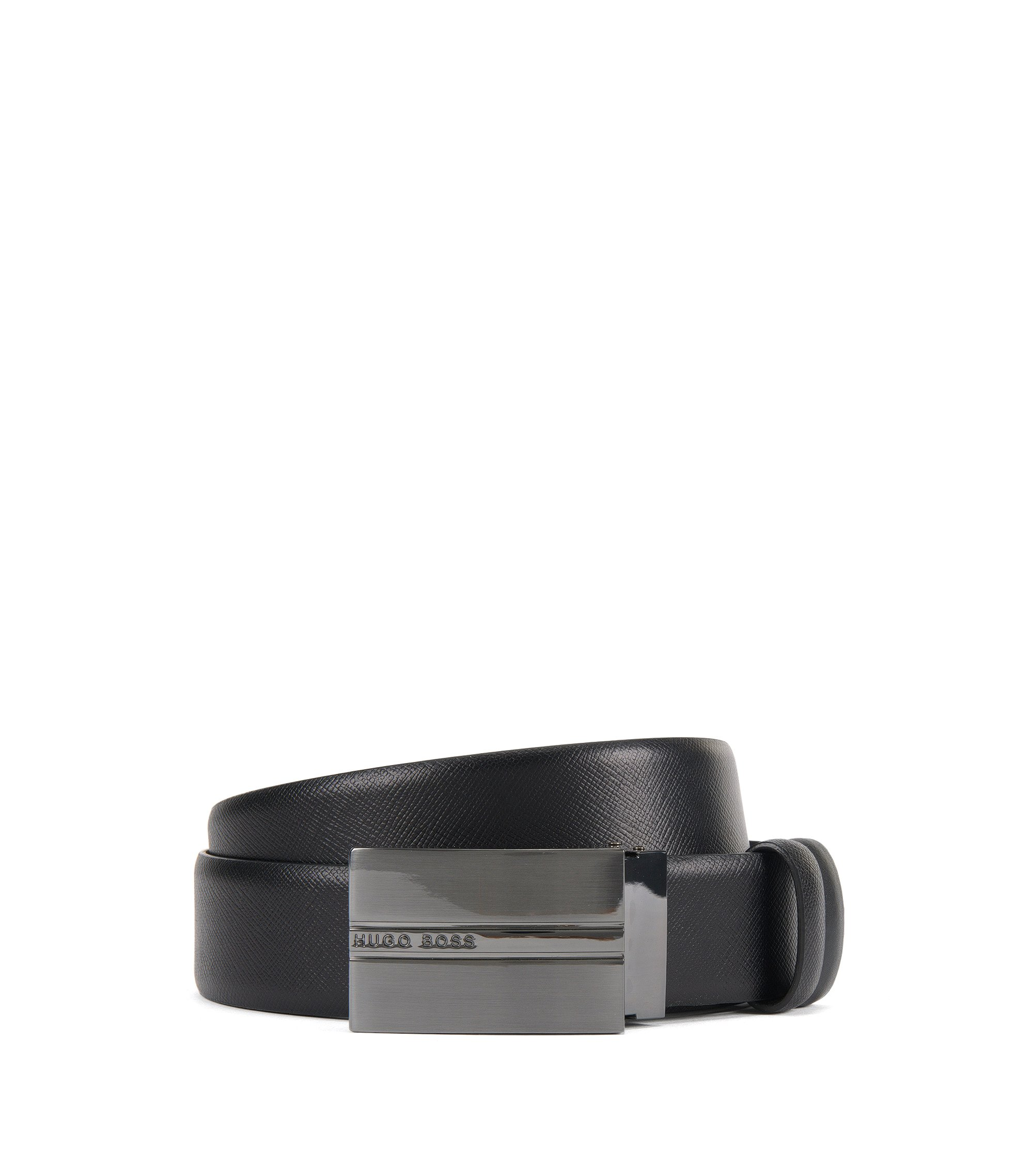 Reversible Leather Belt | Olias Or35 Ps, Black