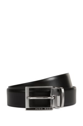 'Gim Gb35 Ps' | Leather Belt, Black