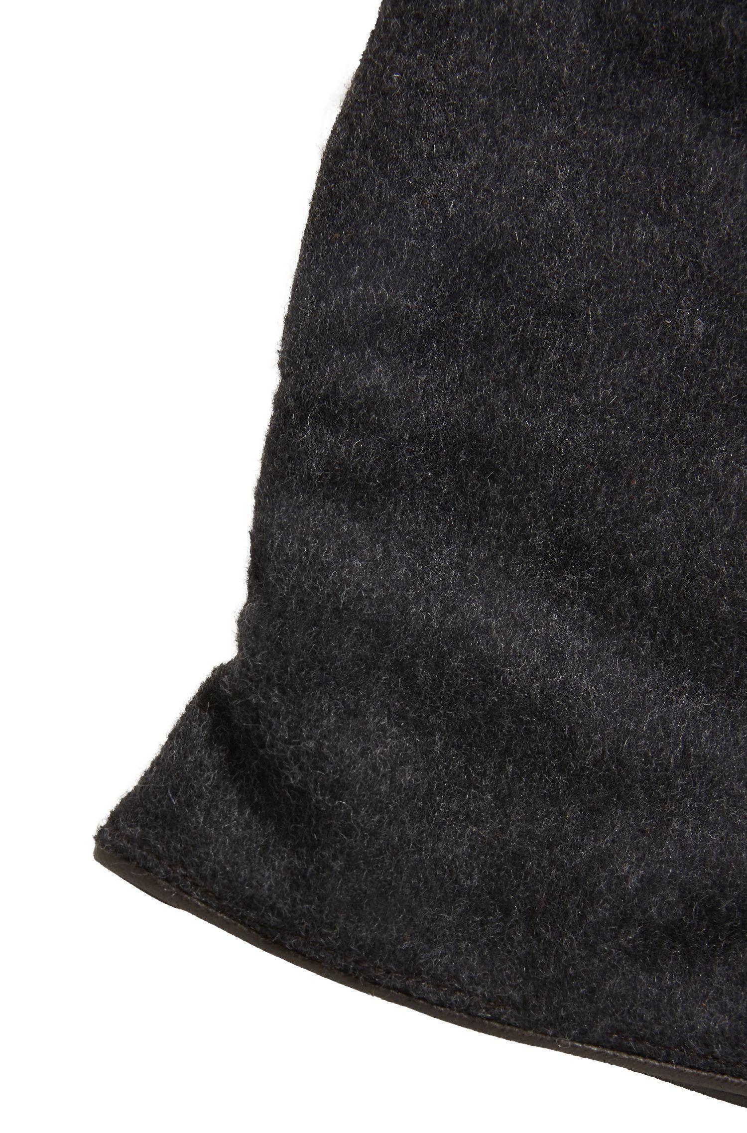 Leather & Wool Blend Knit Glove | Hebold TT