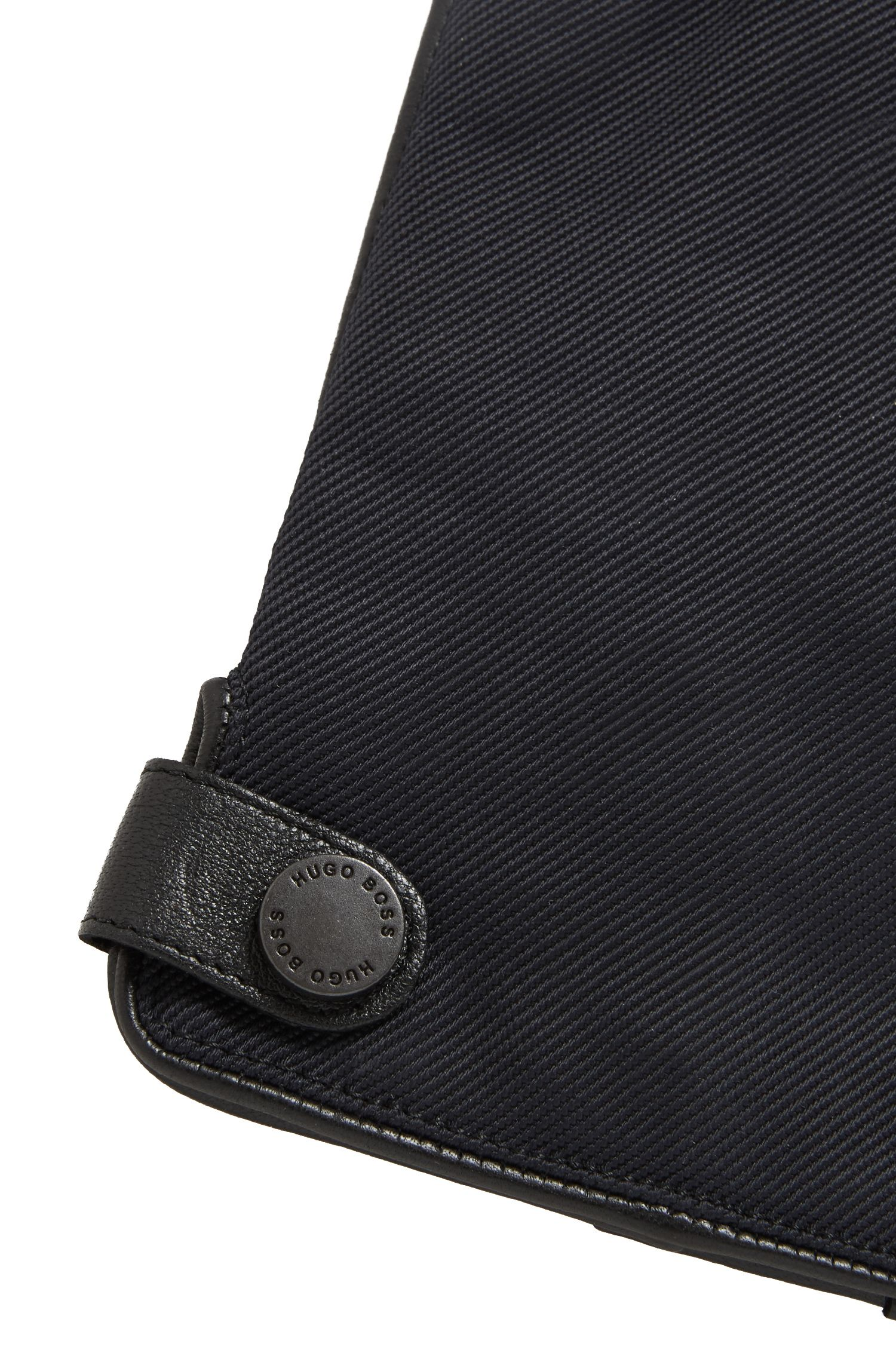 Nappa Leather & Wool Blend Tech Touch Glove | Helgan TT, Black