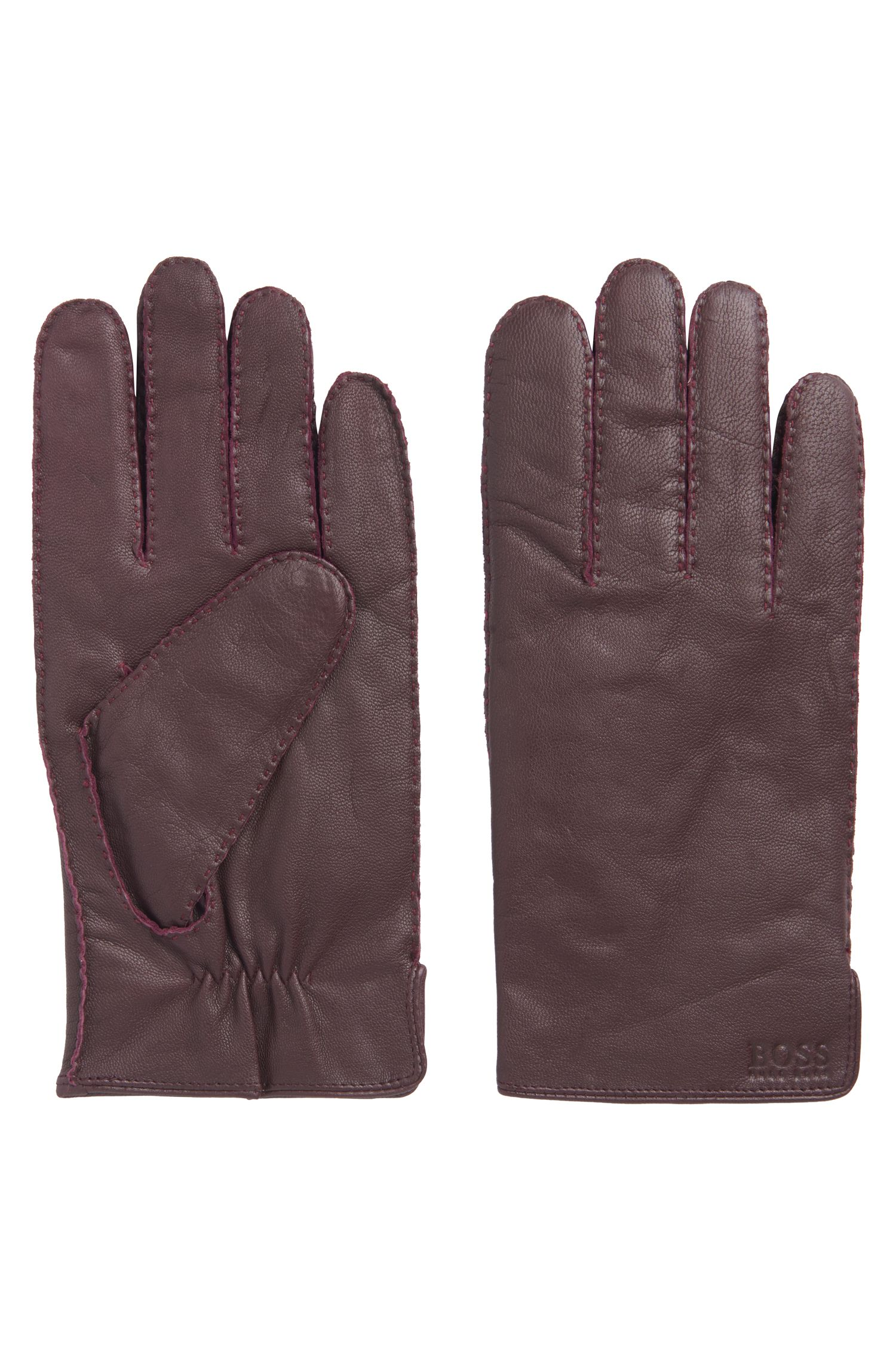 Nappa Leather Gloves | Kranton, Dark Red