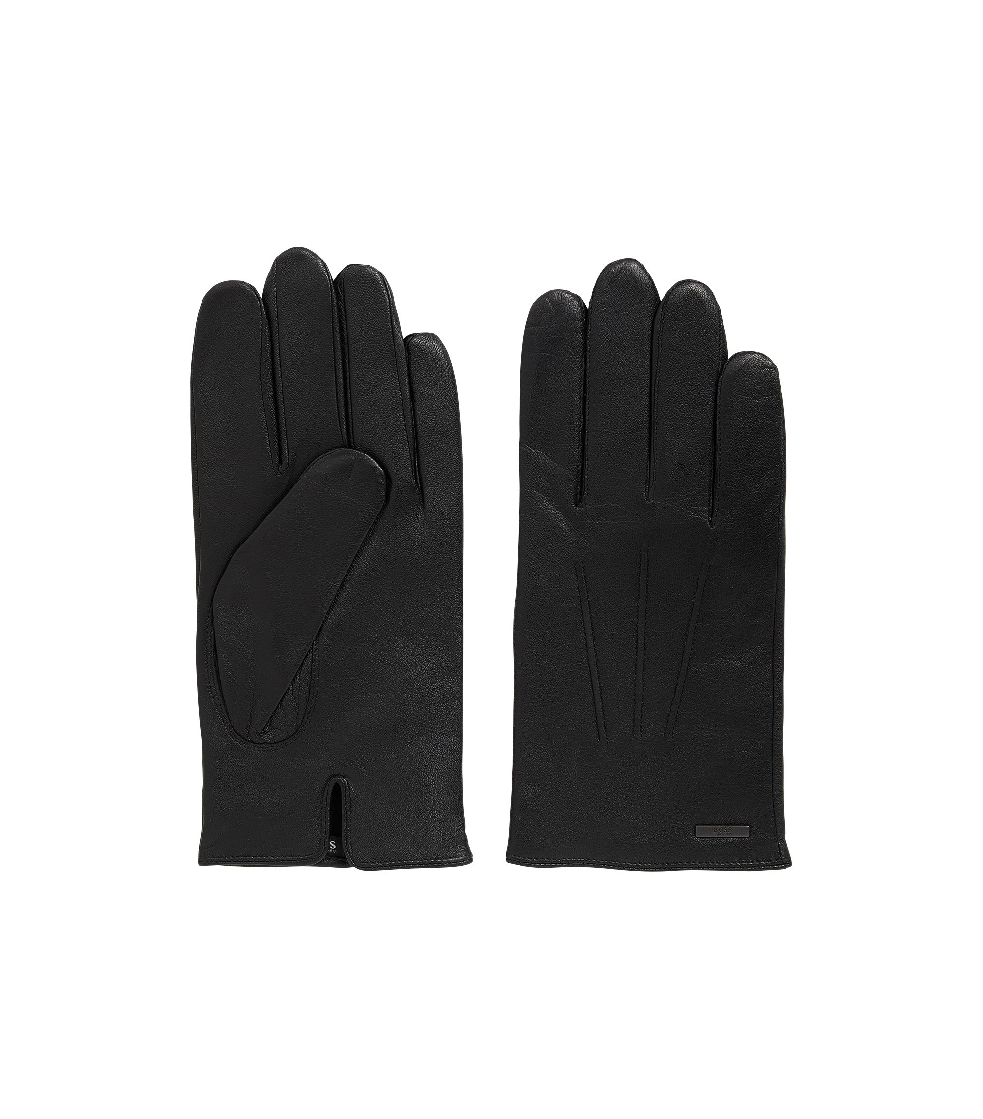 Nappa Leather Gloves | Hainz, Black