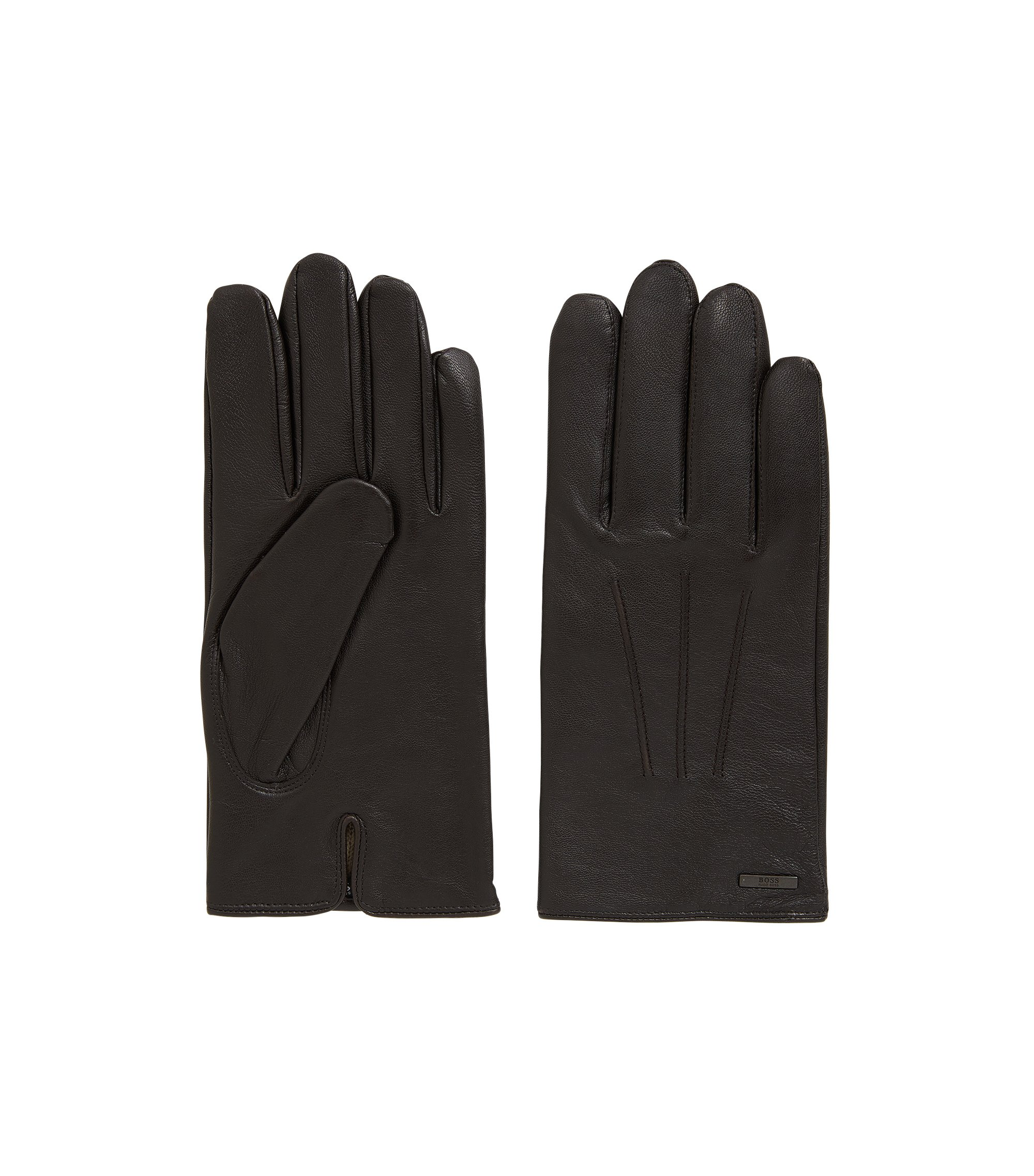 Nappa Leather Gloves | Hainz, Dark Brown