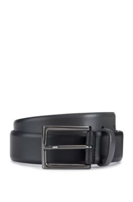 Leather Belt | C Gatien Sz35 Ltpl, Dark Grey