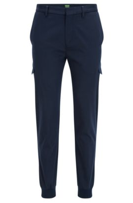 'Loomes W' | Slim Fit, Cotton Cargo Pants, Dark Blue