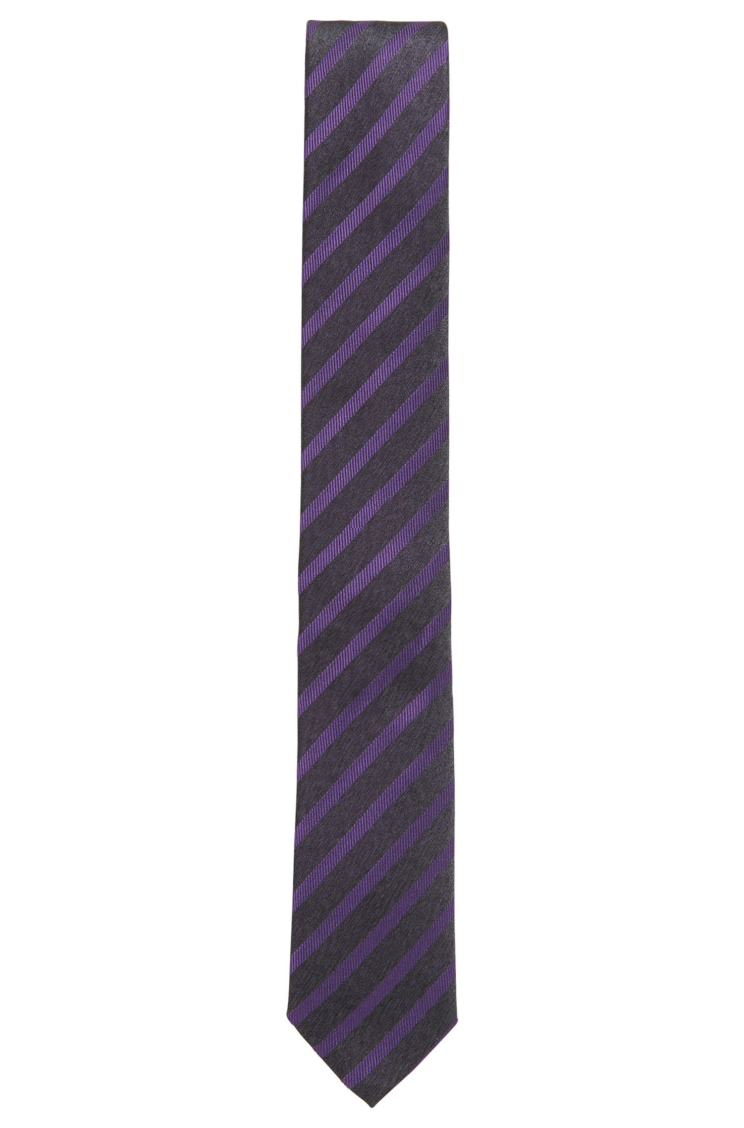 Striped Slim Italian Silk Tie