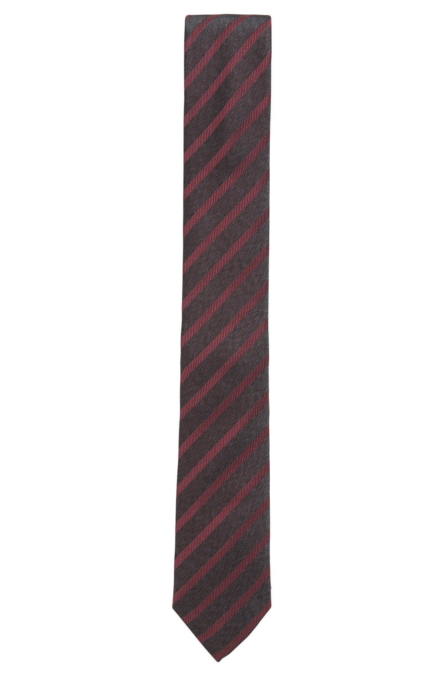 Striped Silk Tie, Slim   Tie 6 cm