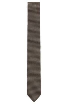 Dobby Italian Silk Slim Tie, Open Green
