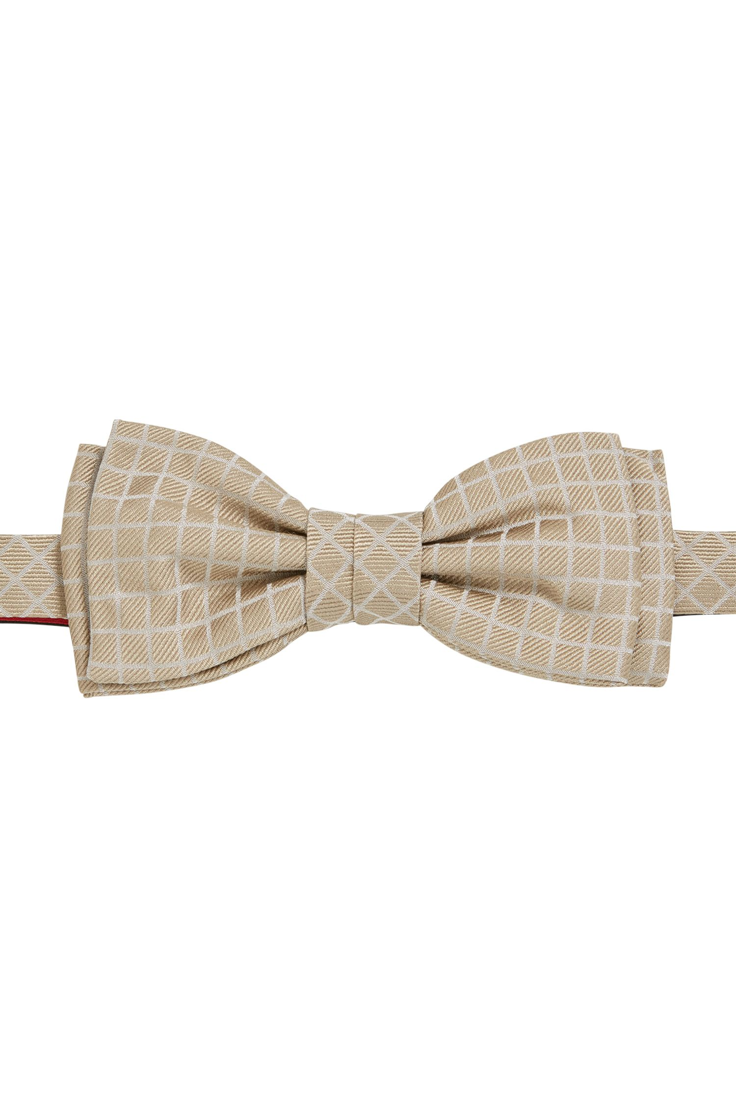 Checked Italian Silk Bow Tie