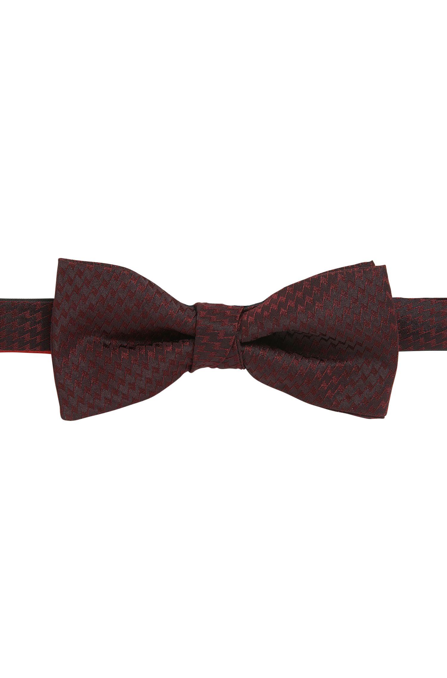 Zig Zag Italian Silk Bow Tie