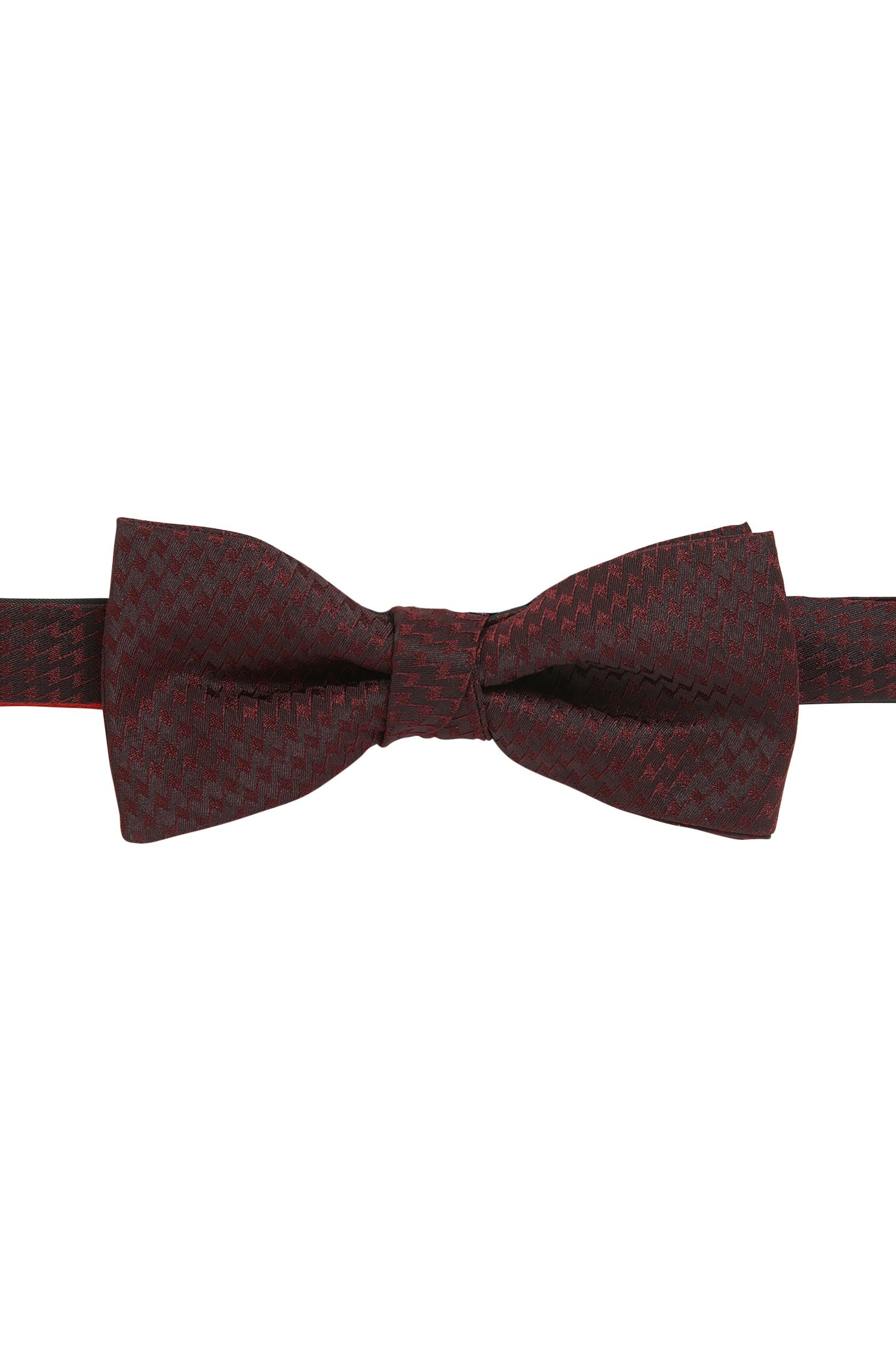 Zig Zag Silk Bow Tie, Tied | Bow Tie Fashion