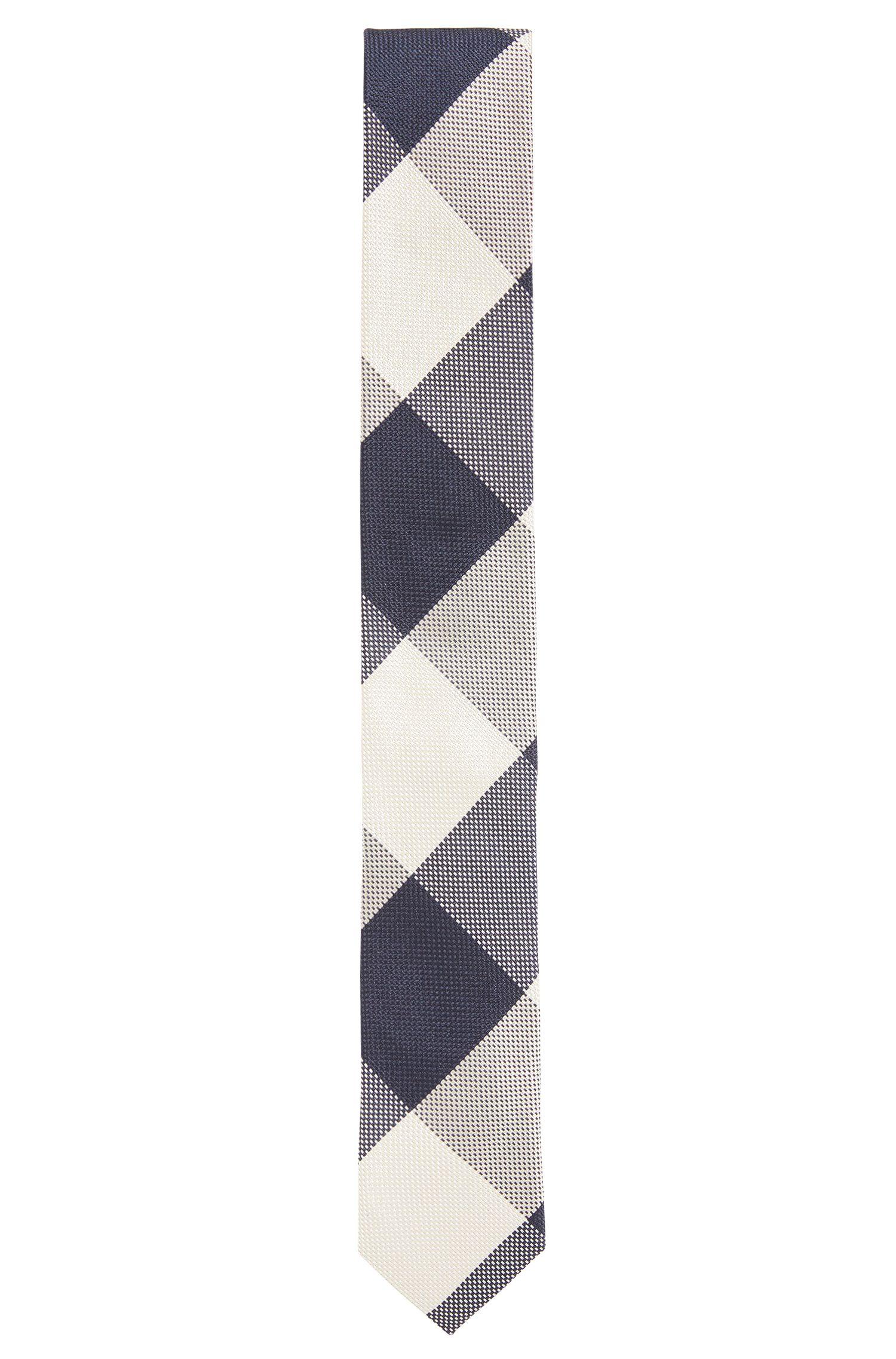 Plaid Italian Silk Slim Tie