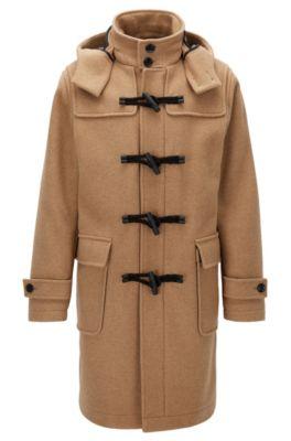 Wool Blend Duffle Coat | Chip, Beige