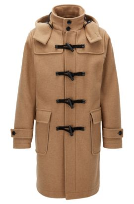 Wool Blend Duffle Coat | Chip, Beige