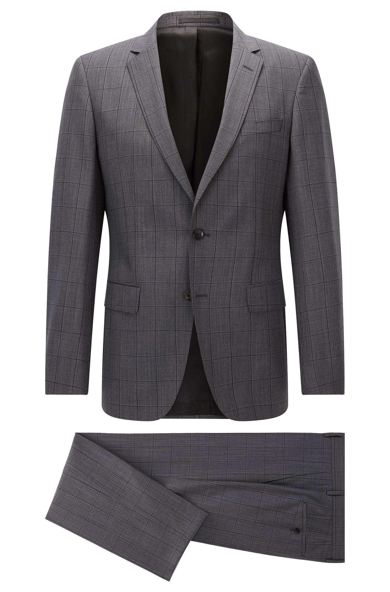 Windowpane Italian Super 110 Virgin Wool Suit, Slim Fit | Huge/Genius