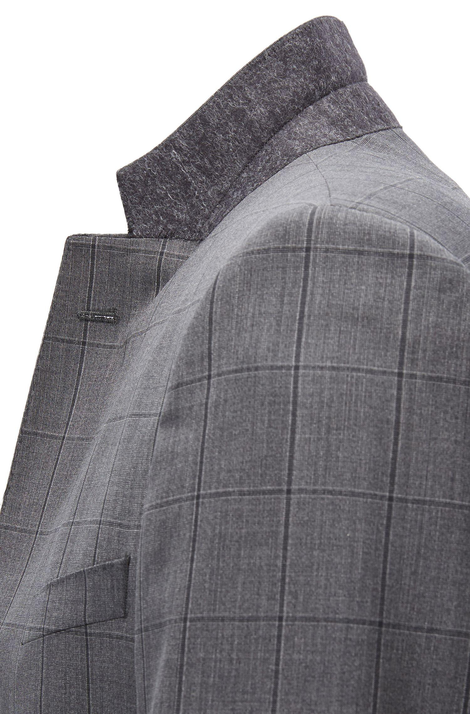 Italian Virgin Wool Suit, Slim Fit | Huge/Genius, Grey