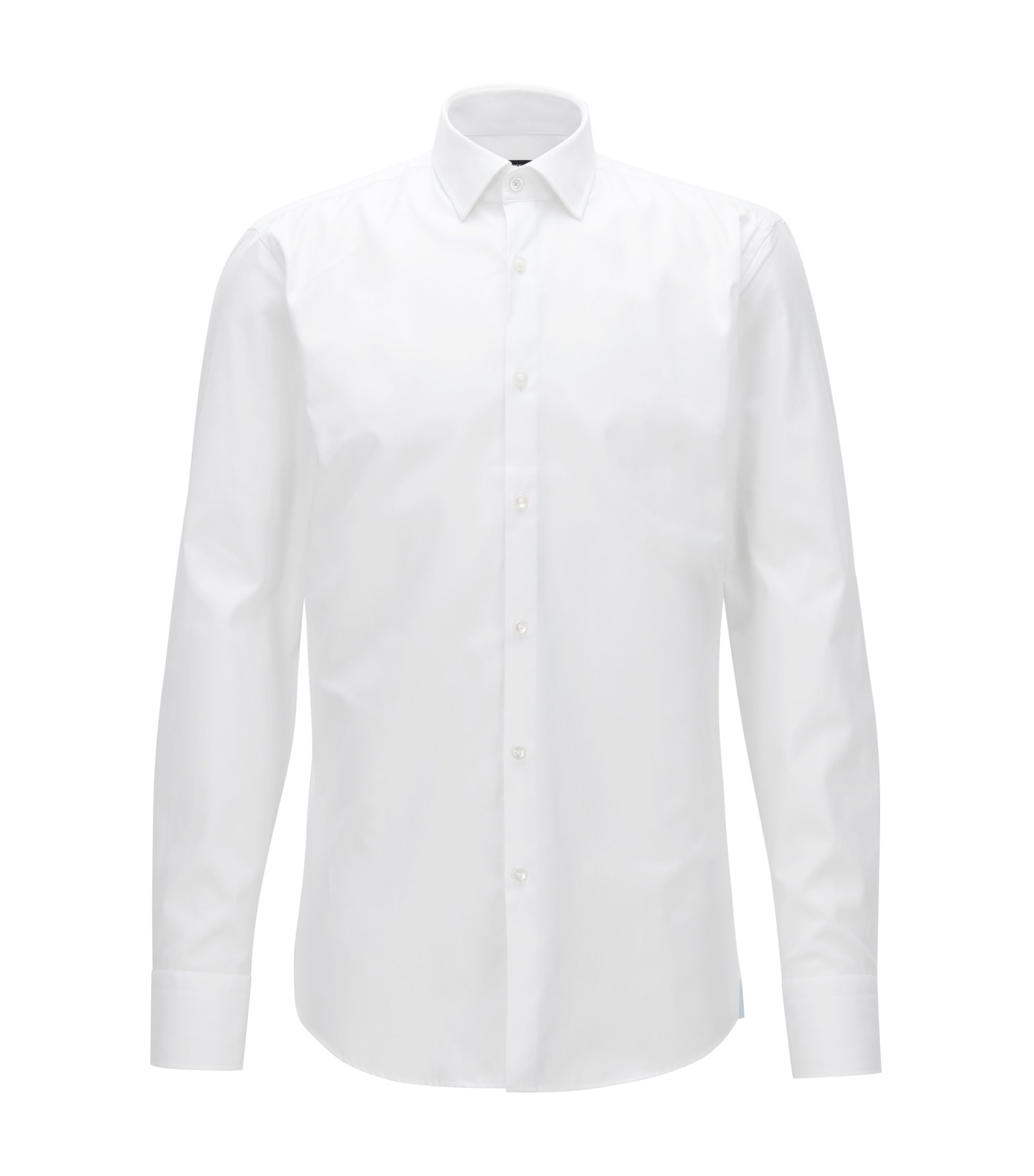 Cotton Dress Shirt, Slim Fit  | Jerris, White