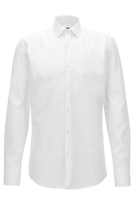 59f9dd260 BOSS - Cotton Dress Shirt, Slim Fit | Jerris