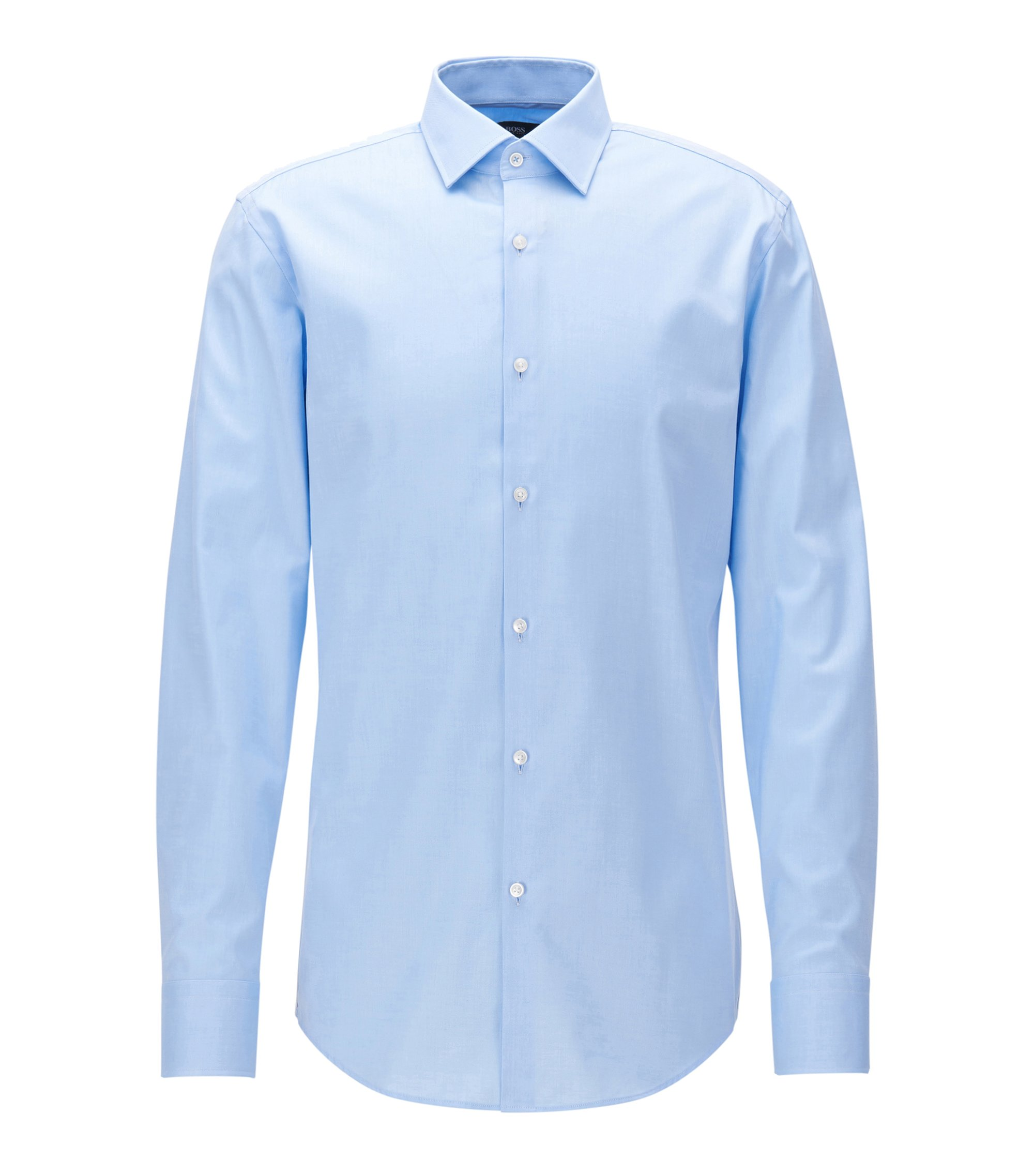 Cotton Dress Shirt, Slim Fit  | Jerris, Light Blue