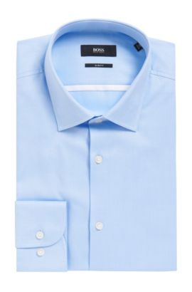 Cotton Dress Shirt, Slim Fit  | Jerris, Light Blue