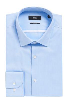 Cotton Dress Shirt, Slim Fit    Jerris, Light Blue