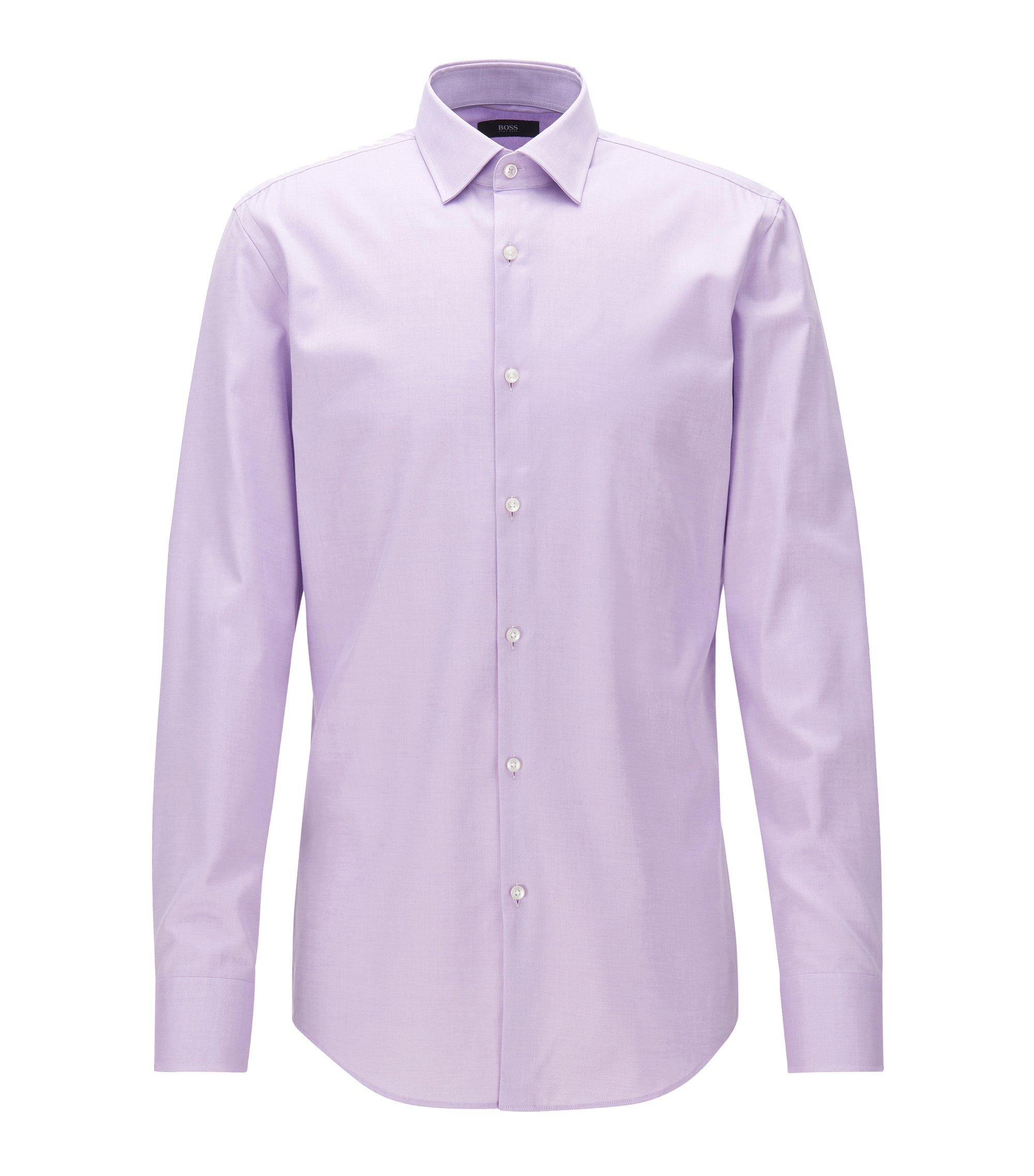 Cotton Dress Shirt, Slim Fit  | Jerris, Light Purple