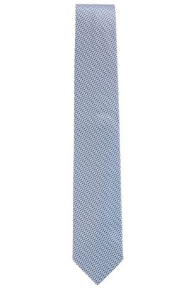 'Tie 7.5 cm' | Regular, Geometric Silk Tie, Dark Blue