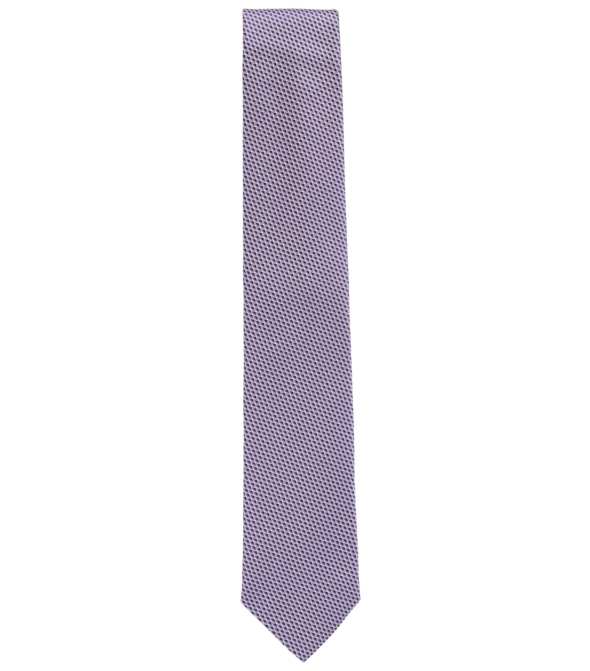 Geometric Italian Silk Tie, Light Purple