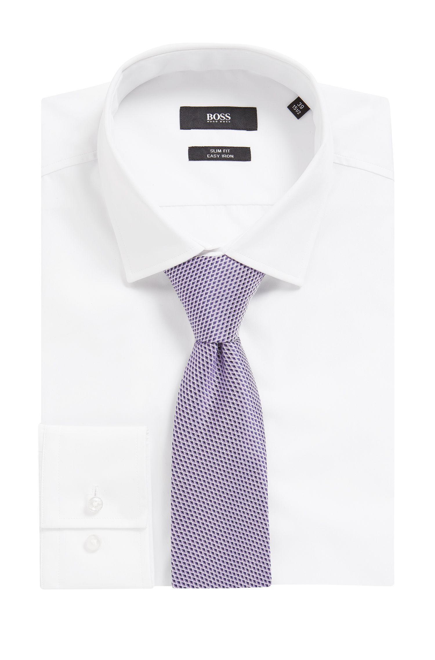 Geometric Italian Silk Tie, Light Purple
