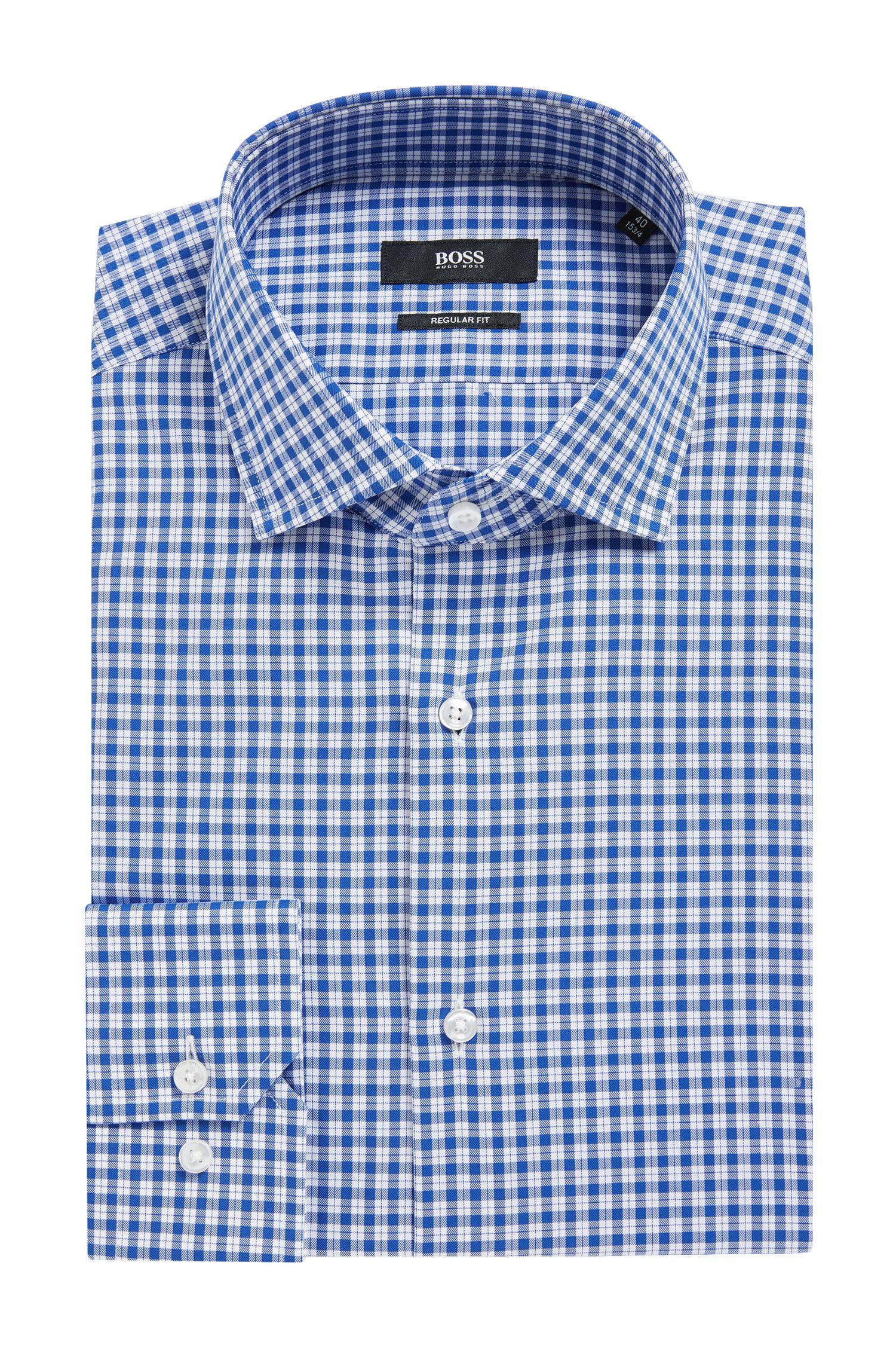 Houndstooth Check Cotton Dress Shirt, Regular Fit | Gordon
