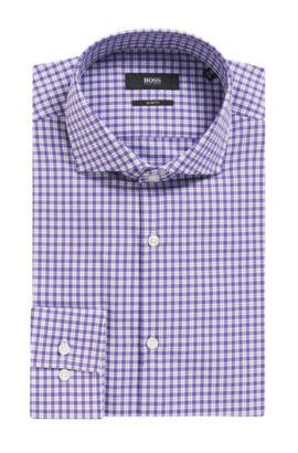 Check Cotton Dress Shirt, Slim Fit | Jason, Purple