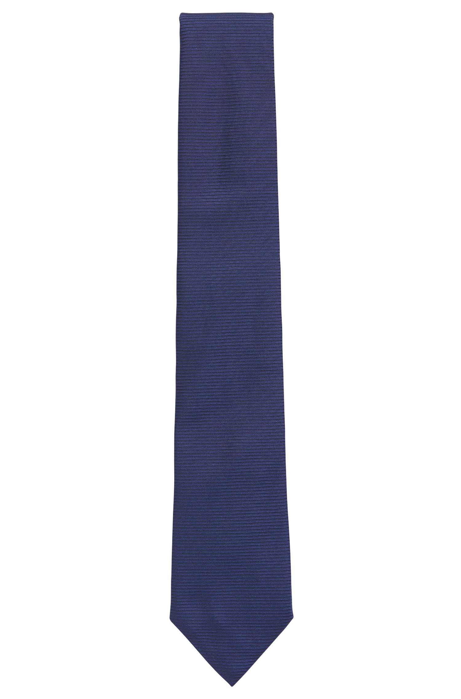 Striped Italian Silk Tie, Turquoise