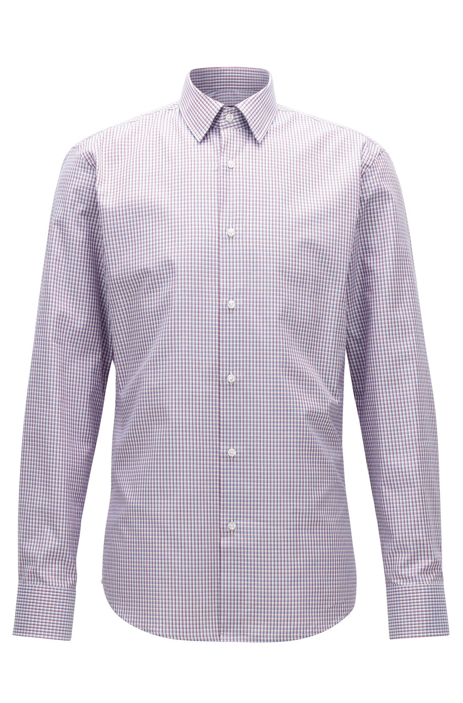 Check Cotton Dress Shirt, Regular Fit | Enzo