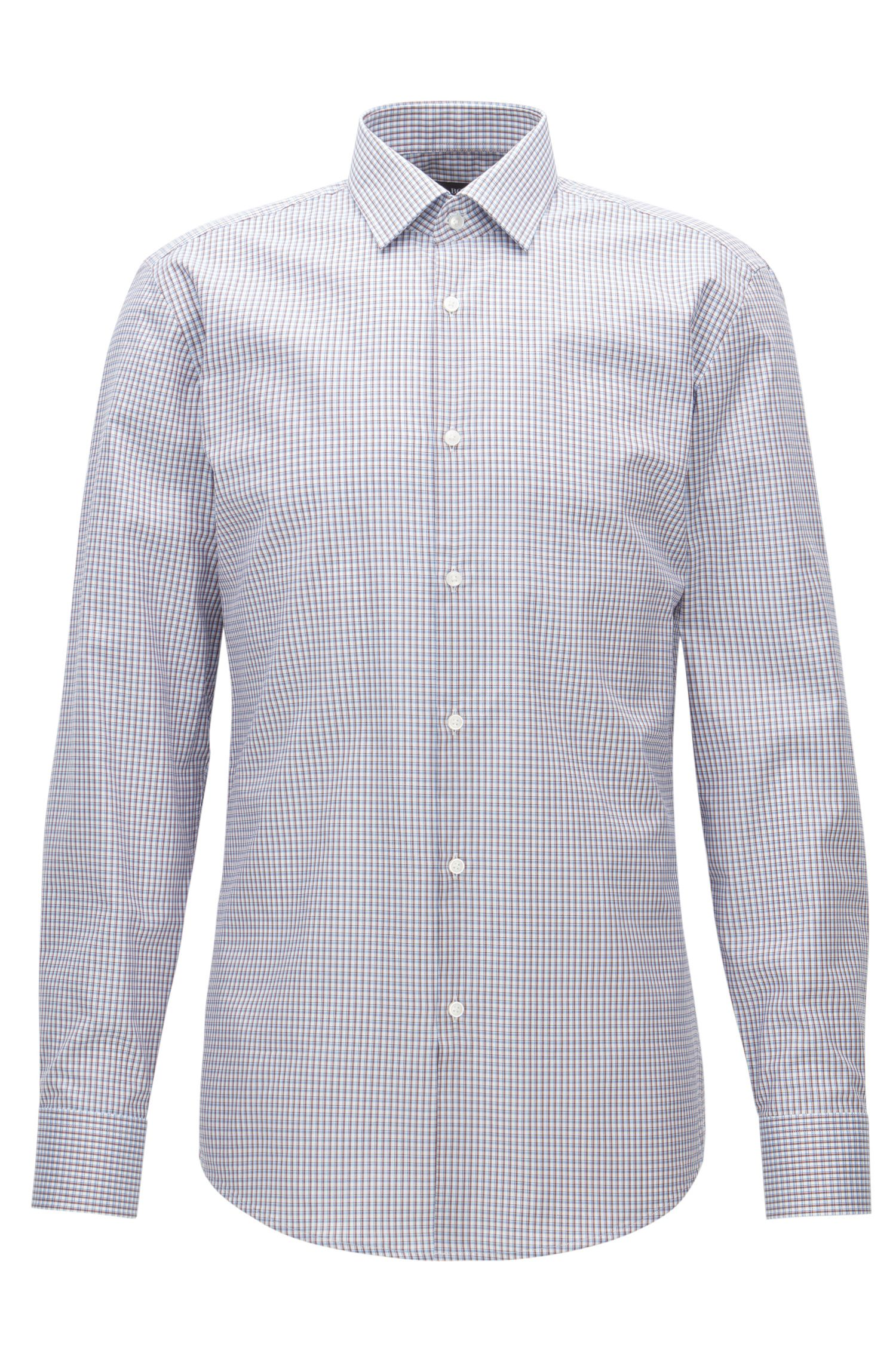 Plaid Cotton Dress Shirt, Slim Fit | Jenno