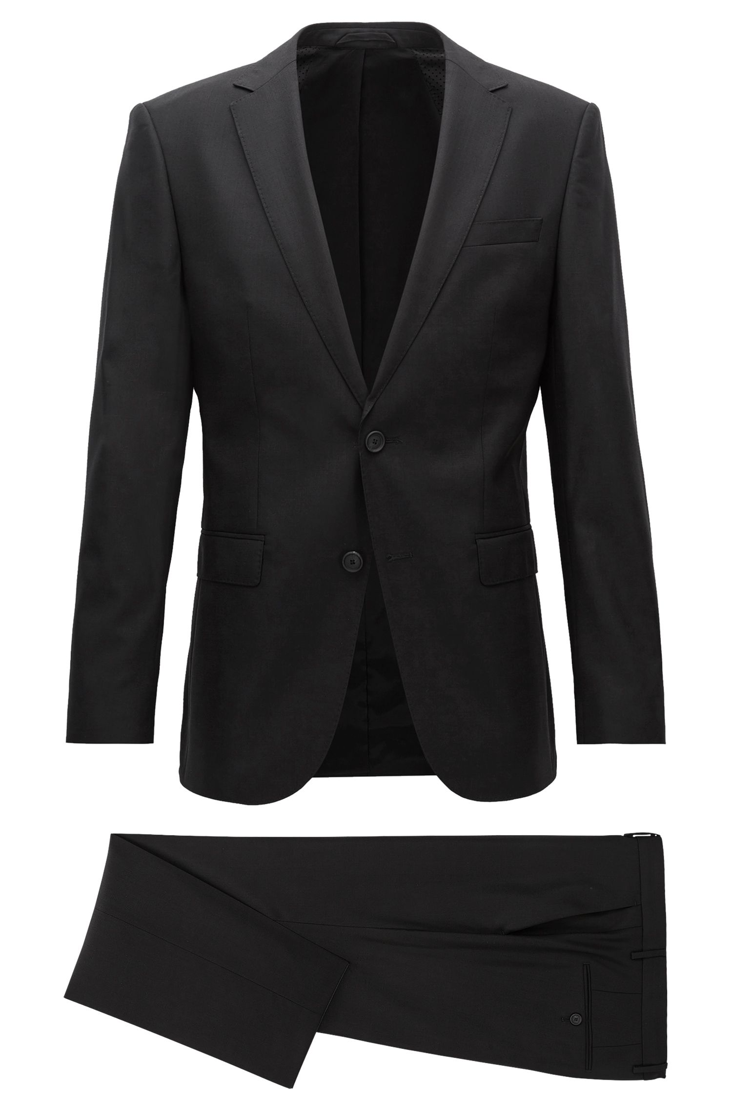 Virgin Wool Travel Suit, Slim Fit   Nestro/Byte