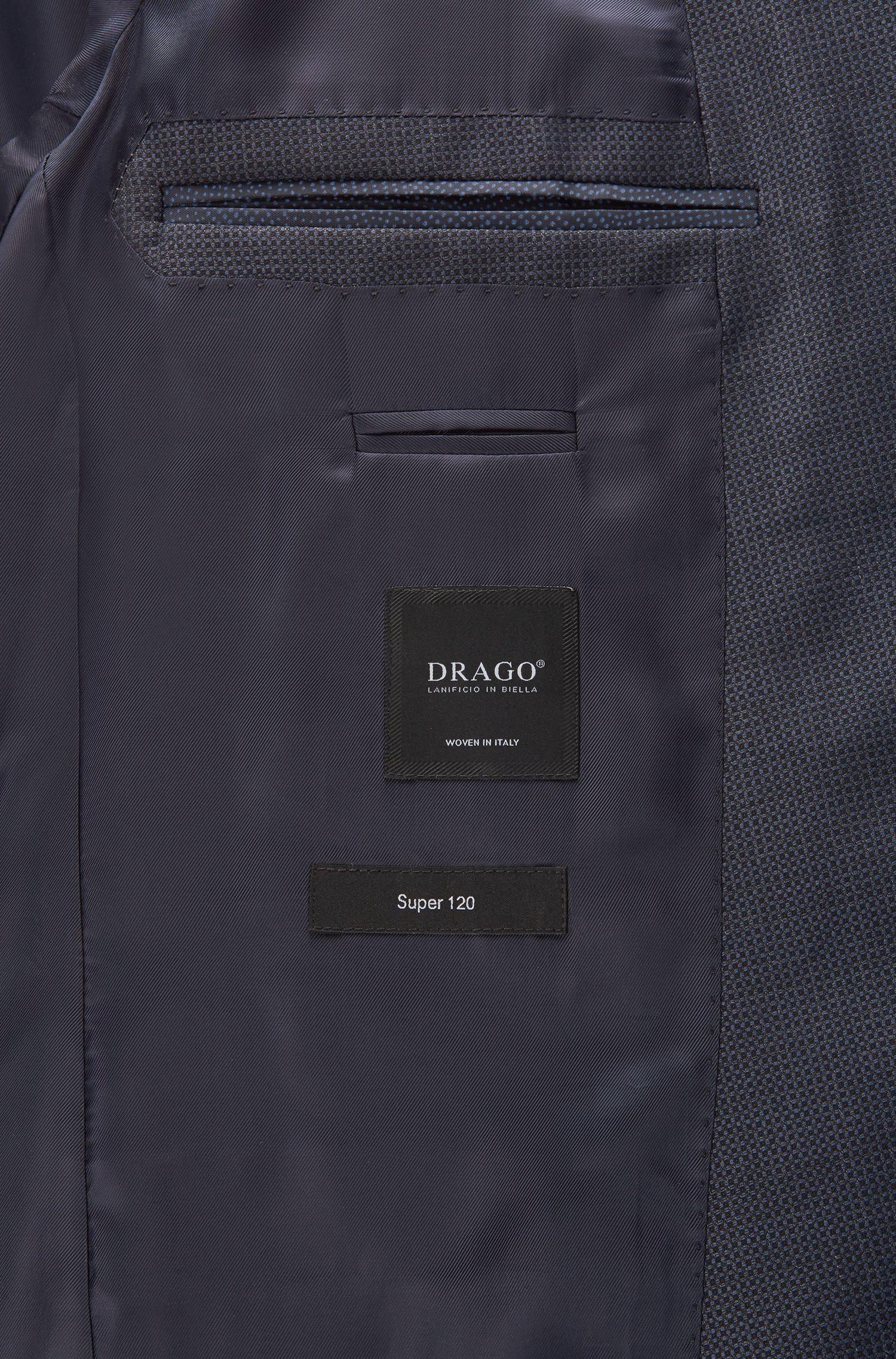 Virgin Wool Suit, Slim Fit | Novan/Ben, Dark Blue