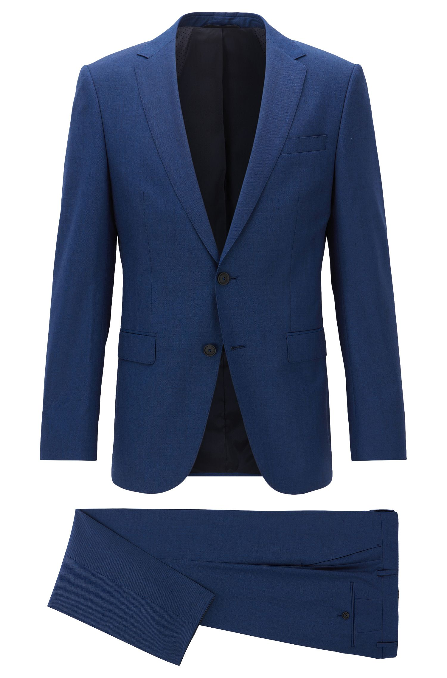 Stretch Tailoring Wool Travel Suit, Slim Ft | Nestro/Byte, Blue