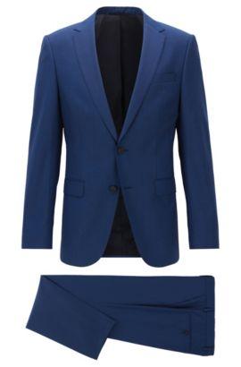 Virgin Wool Travel Suit, Slim Ft | Nestro/Byte, Blue
