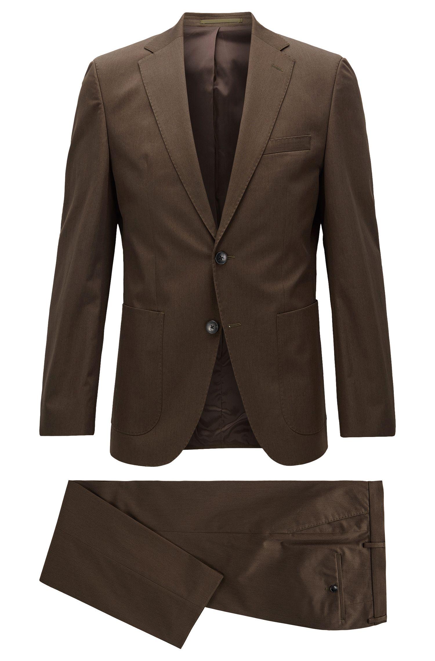 Heathered Stretch Cotton Suit, Regular Fit | Jalston/Lenon