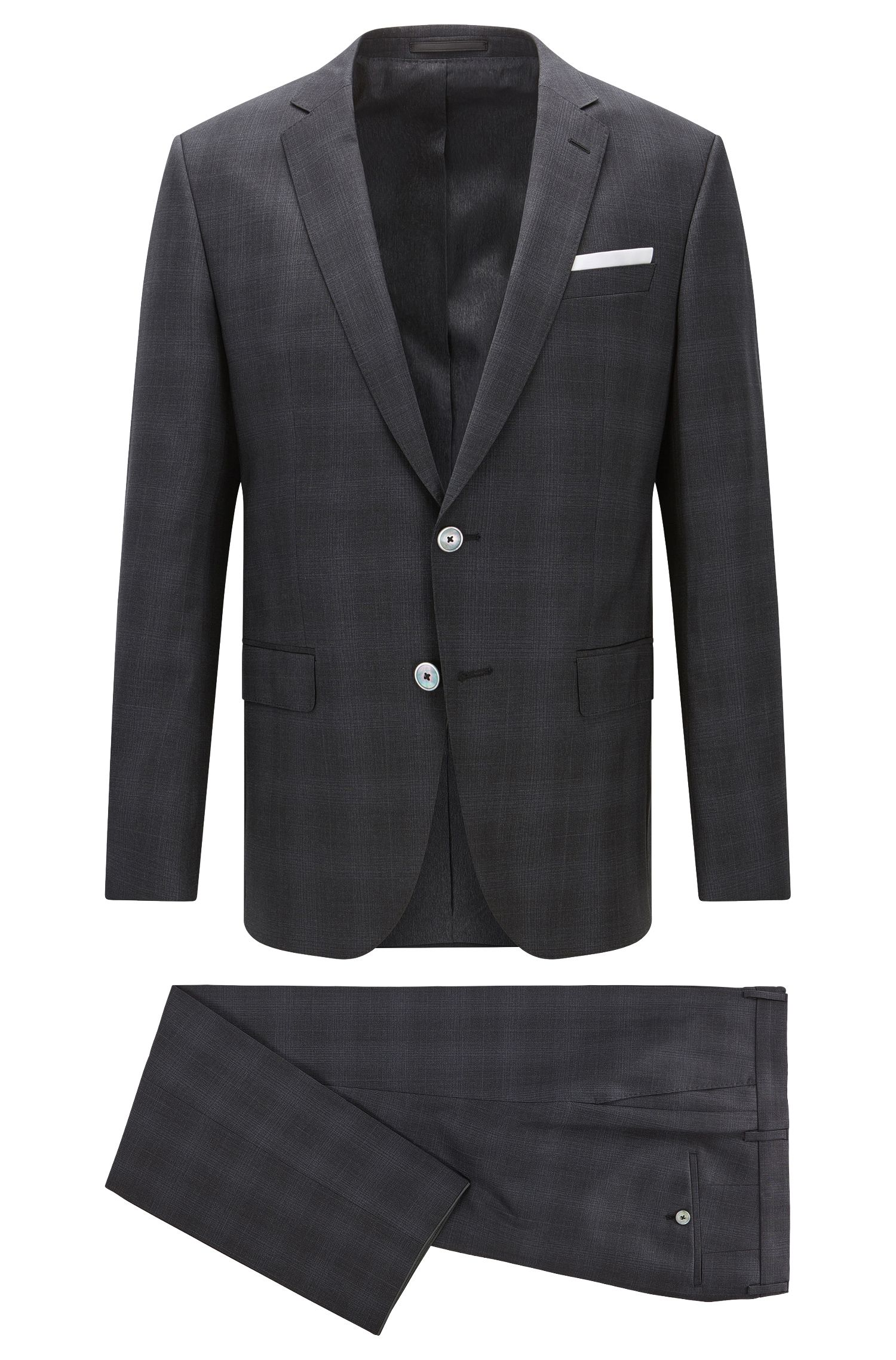 Plaid Virgin Wool Suit with Stretch Tailoring, Slim Fit | Hutson/Gander