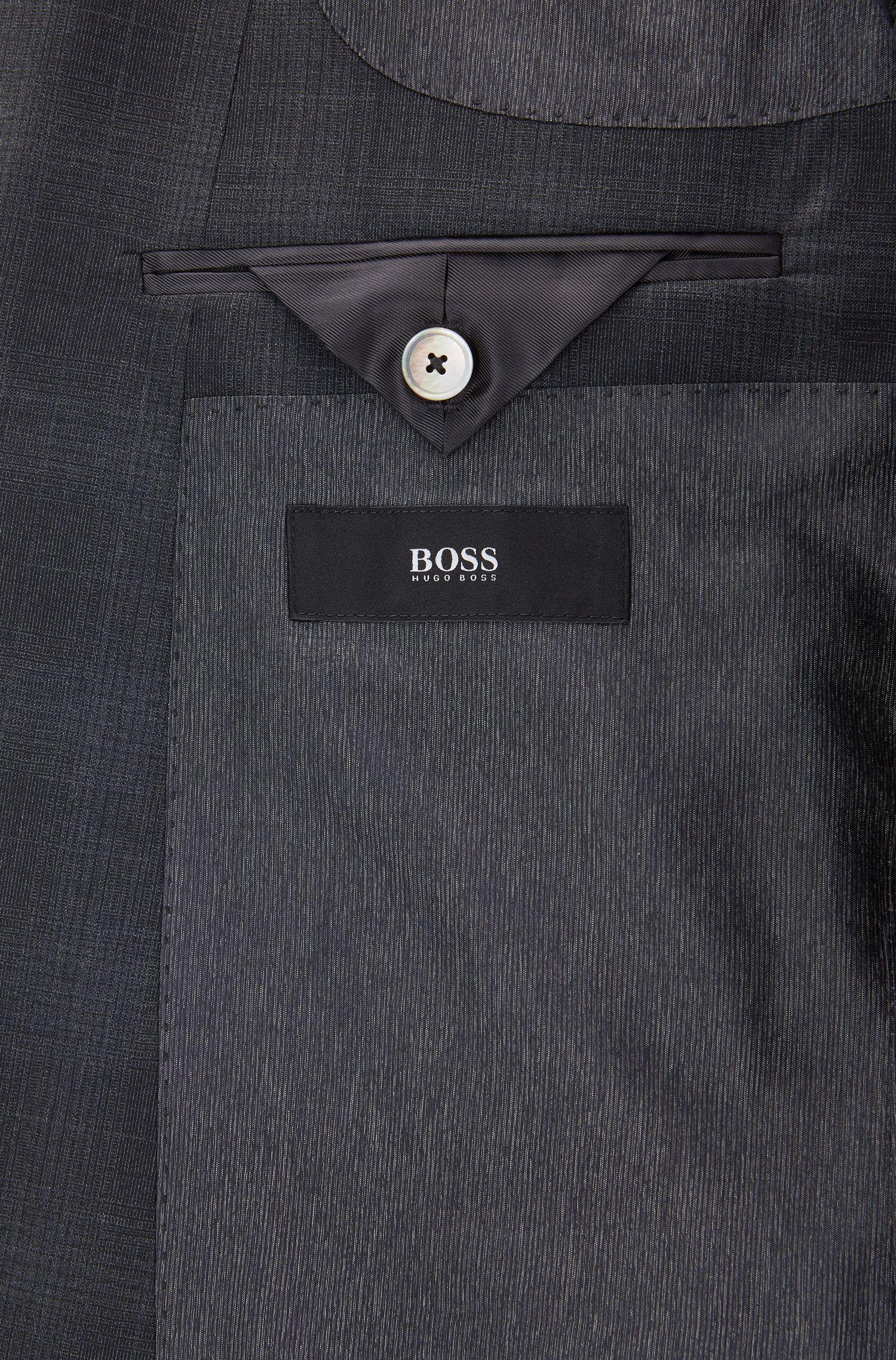 Stretch Tailoring Virgin Wool Suit, Slim Fit   Hutson/Gander, Open Grey