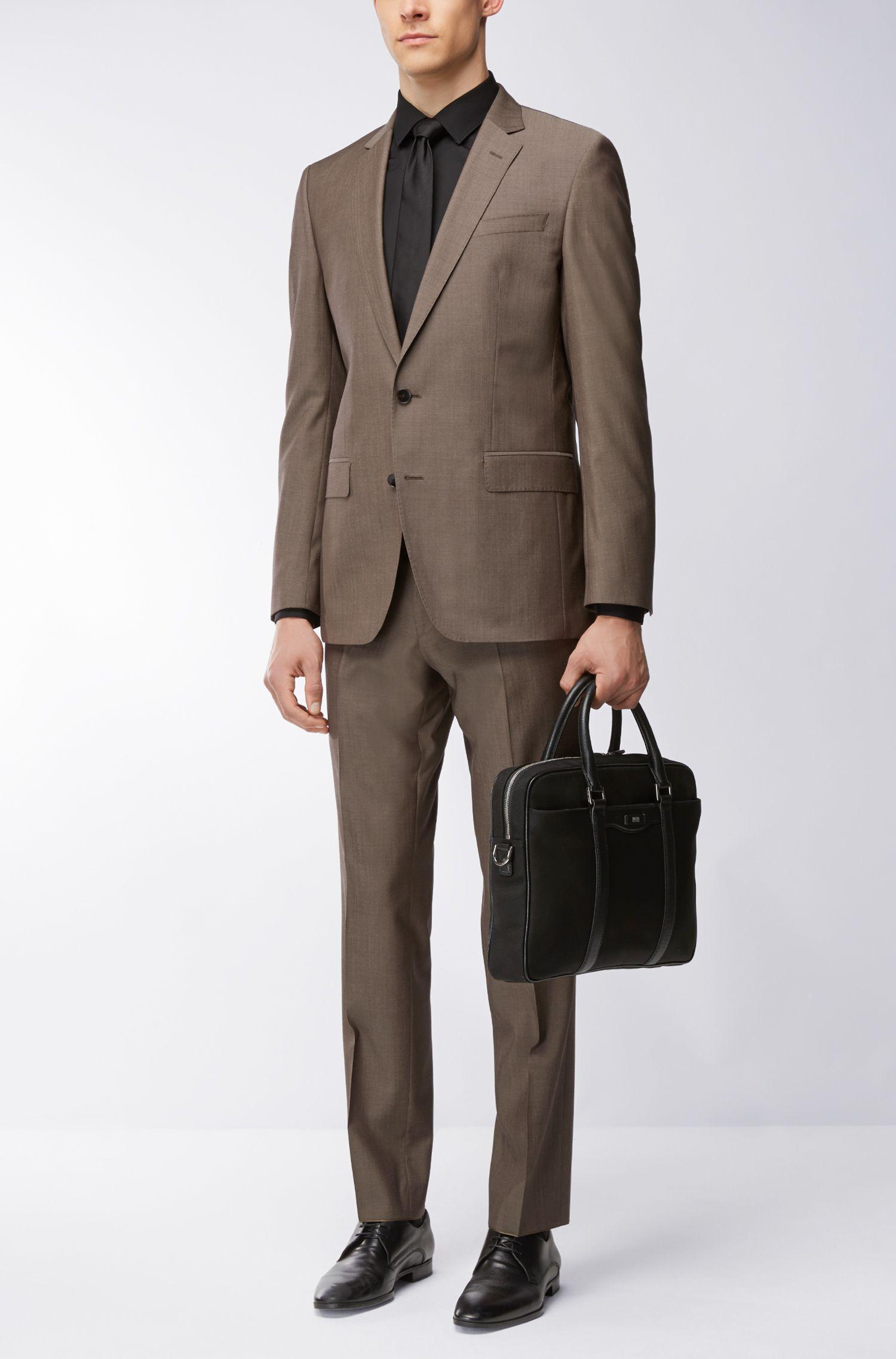 Italian Virgin Wool Suit, Slim Fit   Huge/Genius