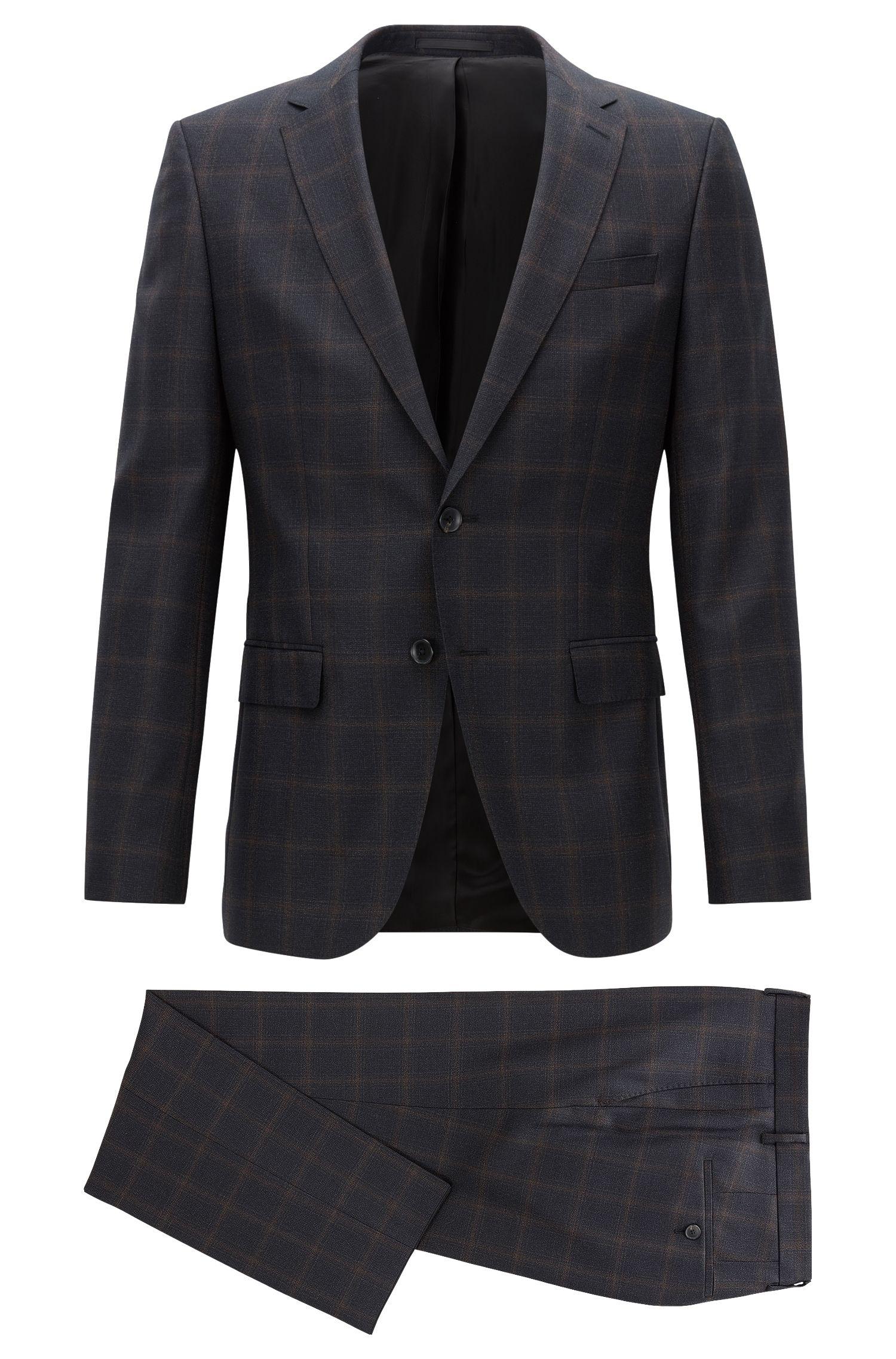 Virgin Wool Suit, Slim Fit | Novan/Ben