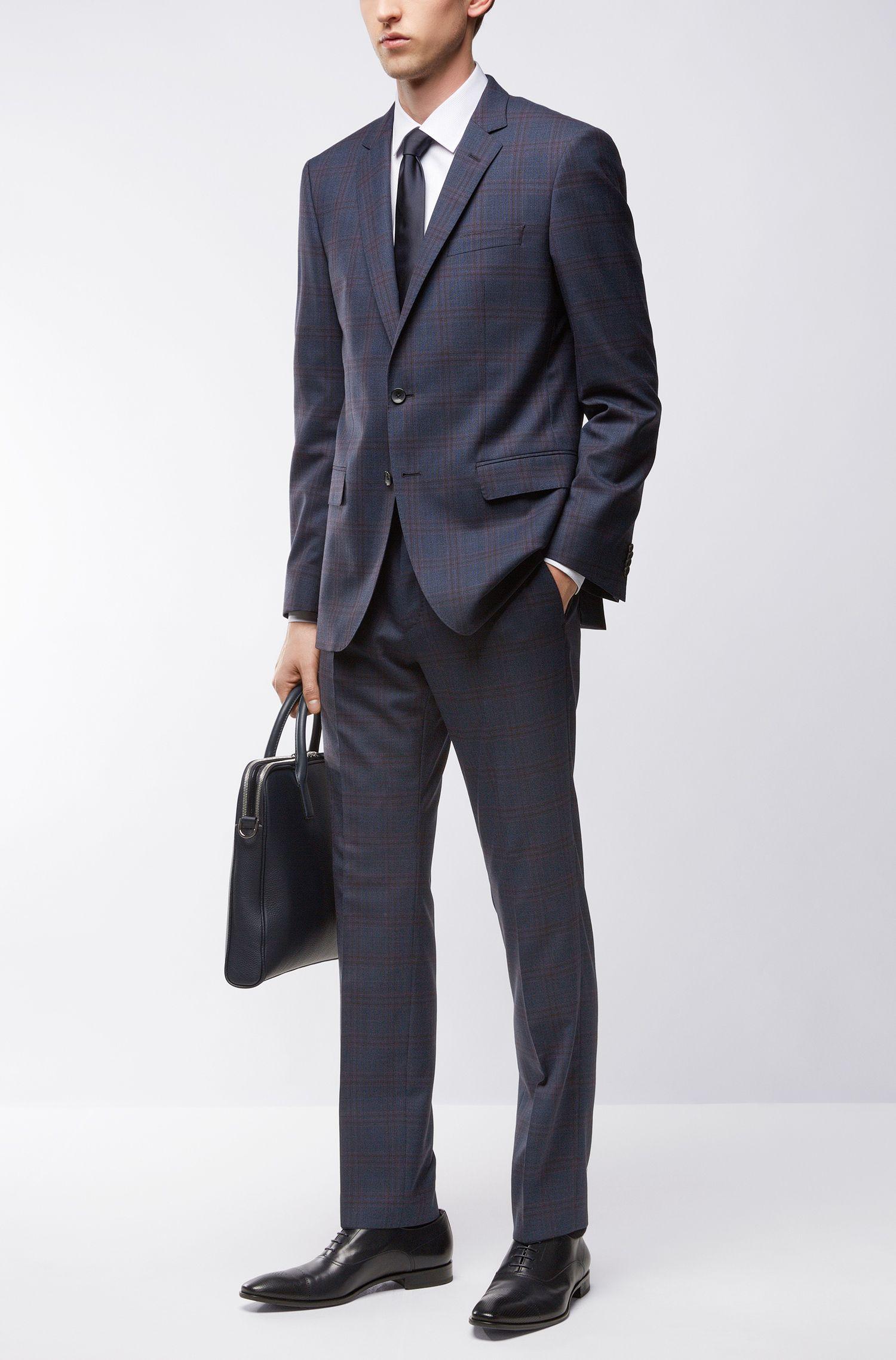 Windowpane Wool Suit, Slim Fit | Huge/Genius