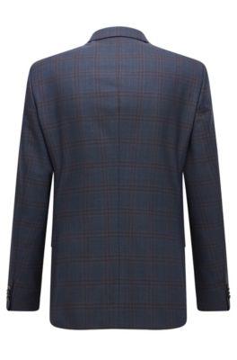 bf4db38b BOSS - Windowpane Wool Suit, Slim Fit   Huge/Genius