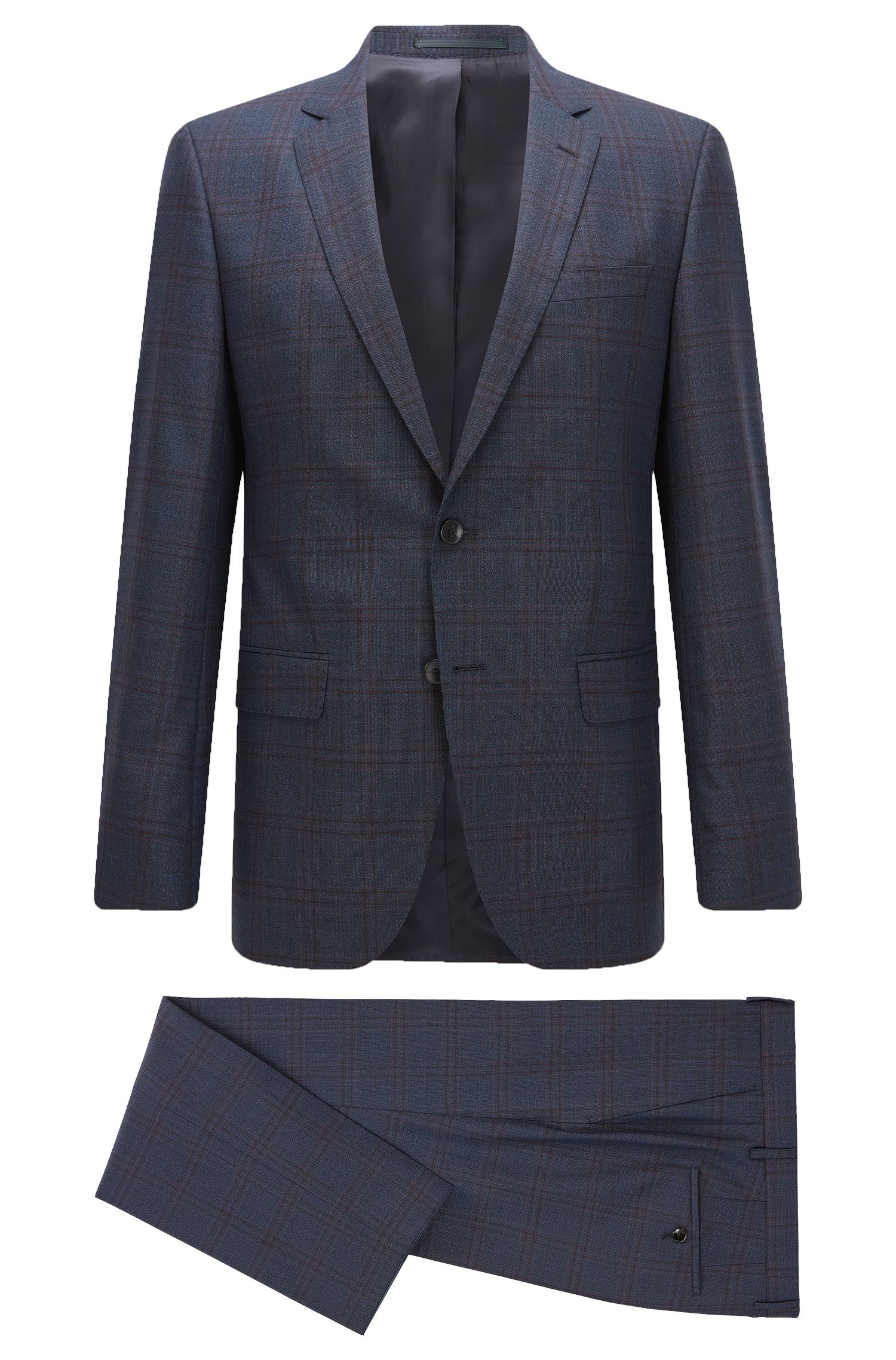 Windowpane Wool Suit, Slim Fit | Huge/Genius