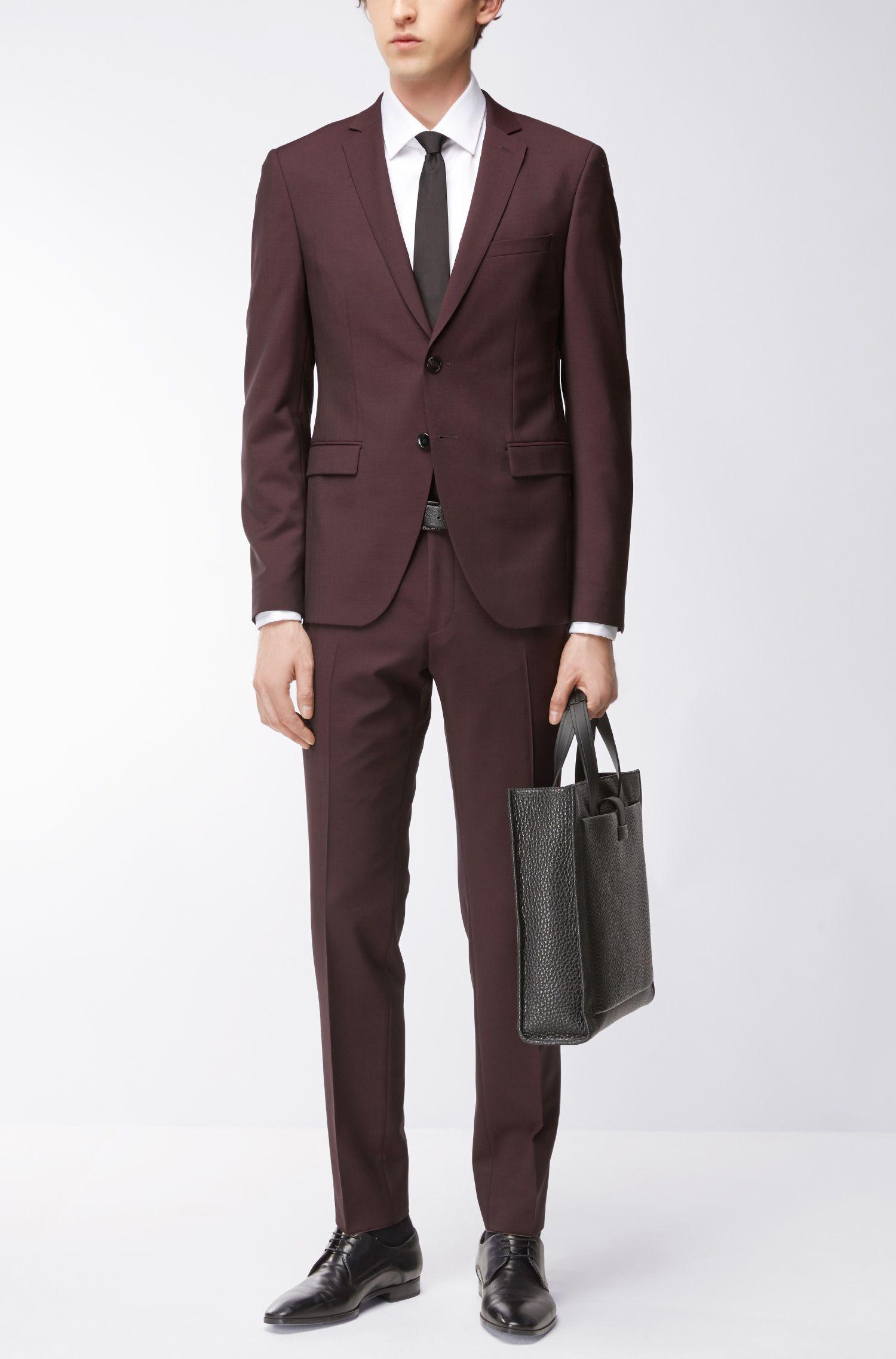 Virgin Wool Mohair Suit, Extra Slim Fit   Reymond/Wenton