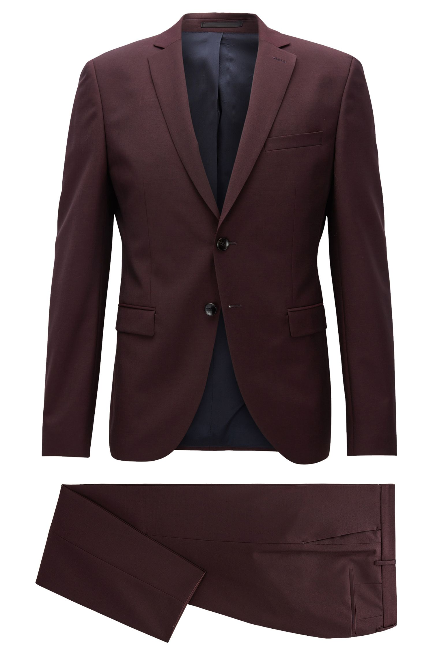 Virgin Wool Mohair Suit with Stretch Tailoring, Extra Slim Fit | Reymond/Wenton