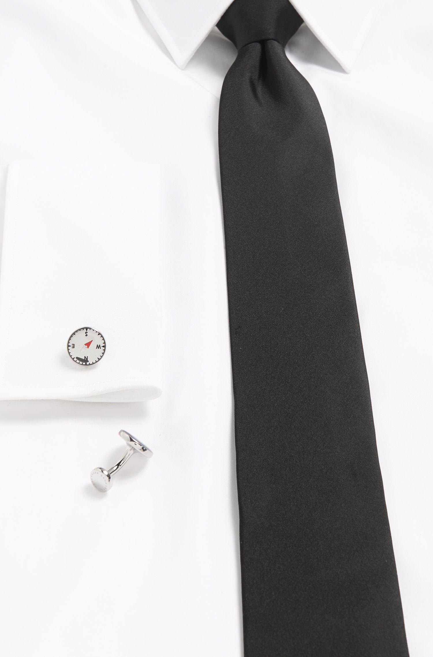 Enamel & Brass Cufflinks | West, Light Grey