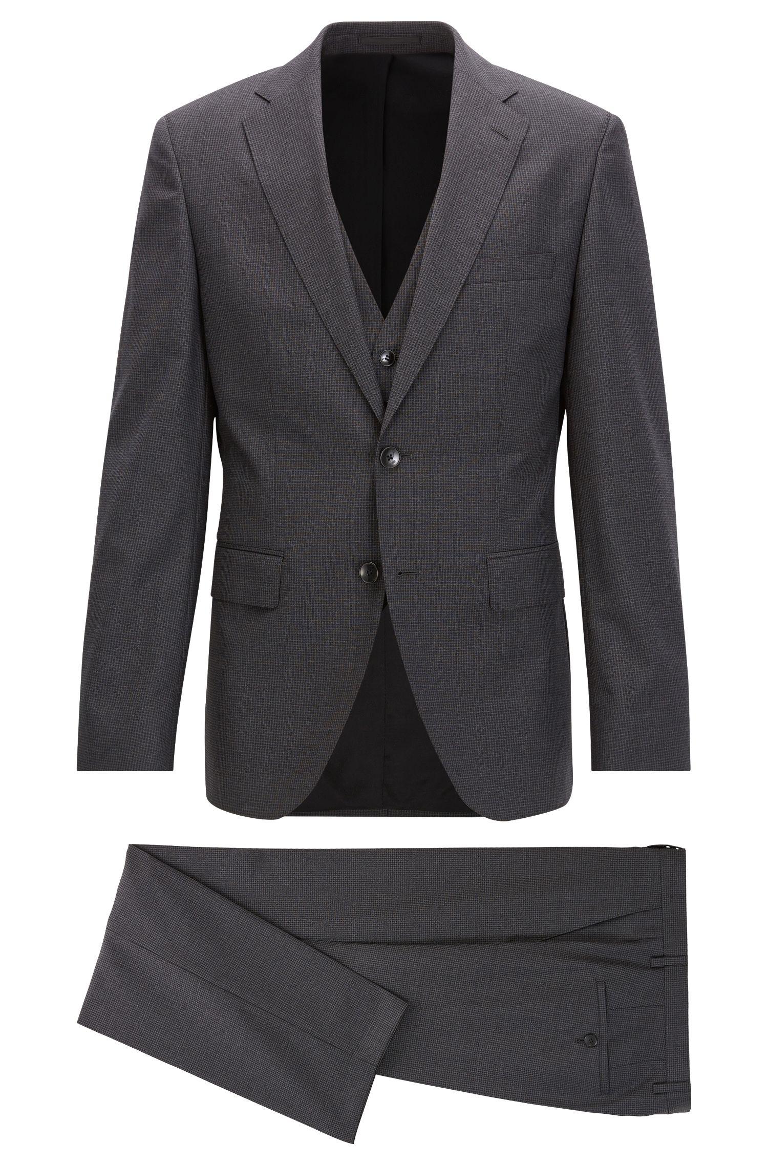 Virgin Wool 3-Piece Suit, Regular Fit | Jerron/Lenon WE